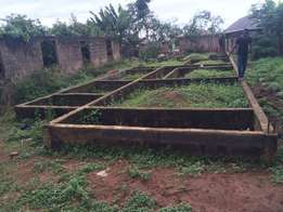 Complete half plot of land for sale at adeleye, ayobo road