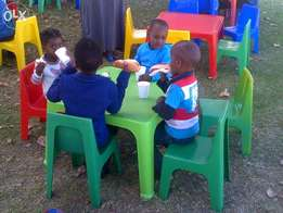 Kids tables and chairs for hire from R7