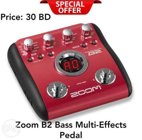 New ZoomB2 Bass Multi-Effects Pedal available now in stock.