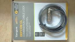 Combination cable lock for laptop