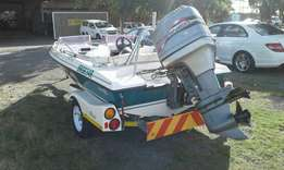 Mariner boat 115 with trailer