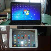 HP laptop + Galaxy Tab A