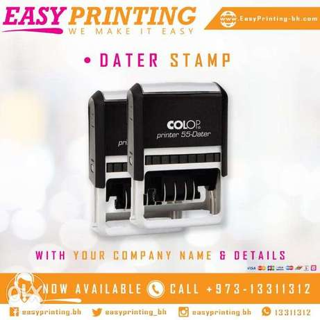 Dater Stamp For Daily Use with Free Delivery Service!