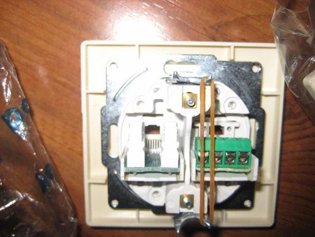 30cccdf1c257 Розетка комбинированная Delux Wega 9135 Кремовая (интернет+телефон) Луганск  - изображение 3