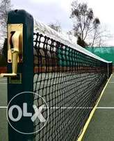 Complete set of lawn tennis post