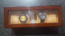 Fossil and CAT watch + Watch Box