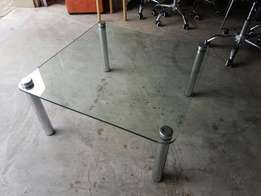Glass Chrome coffee table