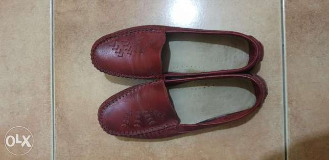 flat real leather shoes