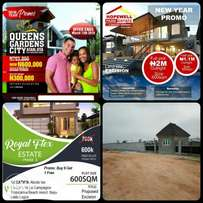 Plots of land in lucrative areas for sale.Investment? We've got you!