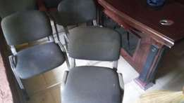 Office stuffs for sale including these reception chairs