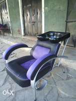 Salon chair with sink