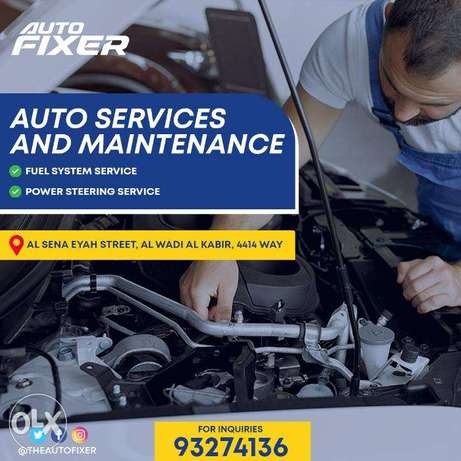 auto service and maintenance (fuel system,power steering)