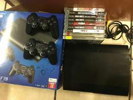Ps3 and 9 games with 2 controls.