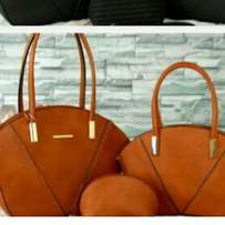 classy handbag red brown and cream available