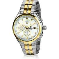Casio Edifice Gold and Silver Stainless Steel Straps