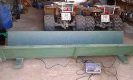 Digital weighing scale for cattle