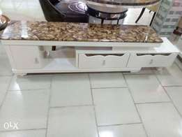 Modern classy marble top TV stand