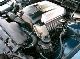 BMW V8 M60b30 Low mileage engine with ECUs for sale