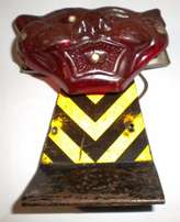 Old motor cycle tiger head rear tail light