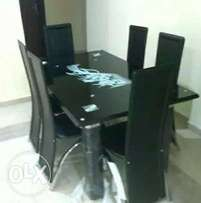 Quality class glass dining table