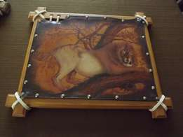 Art on leather Pyrography