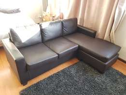 Brown Leather Couch R2500!!