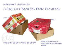 Carton Boxes For Fruits & Veggies!!
