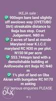 31000sqm on Adeniyi jones ikeja RC. N280 m*