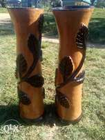 Custom made flower pot vases made out of clay