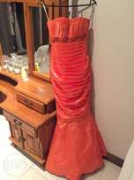 Beautiful fishtail evening gown