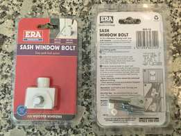2 x Sash Window Bolts (White) for wooden windows