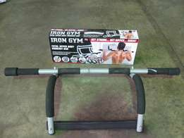 IRON GYM total upper body workout bar. R150