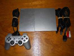 grey ps2 with 10 games