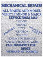 All vehicle service from R550