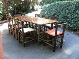 Patio or Boma Table and Chairs for Sale