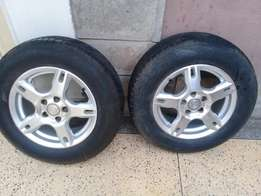 Size 14 sport rims and new tyres