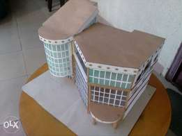 a shopping mall structural model