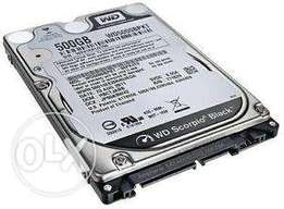 Selling all laptop internal hard drives..250gb 320gb and 500gb