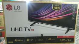 55' LG ultra hd 4k TV(New)