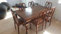 Ball and Claw solid Imbuia dining set