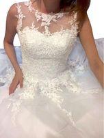 c4dd014227 suknia ślubna wesele linia-A koronka 34 XS