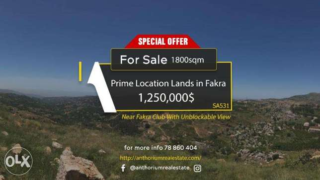 Land at The Entrance of Fakra Club with STUNNING Mountains & Sea View