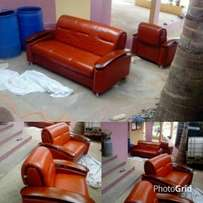 Leather Sofa Set For Sale.NEW