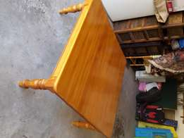Beautifully made yellow wood coffee table