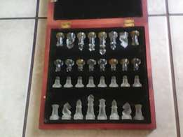 Glass chess set for sale