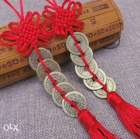 Chinese Knot Feng Shui Wealth Success Copper Coins Lucky Charm Gourd