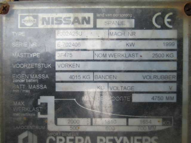 Nissan 25 Diesel FJ02A25U Heftruck 2.5T - 1999 - image 8