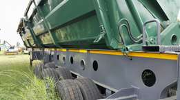 Afrit Triaxle Side Tipper ready to roll