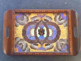 Vintage Art Deco BUTTERFLY WING tray