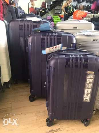 Swiss Travel Suitcase Navy Blue set 3 bags at 50%